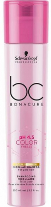 BC Bonacure pH 4.5 Color Freeze Gold Shimmer Micellar Shampoo