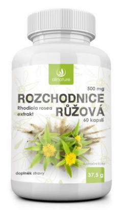 Rozchodnice růžová - Rhodiola Rosea 500 mg, 60 cps.