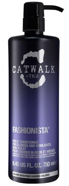 TIGI Catwalk Fashionista Violet Conditioner MAXI - kondicionér pro blond a melírované vlasy 750 ml