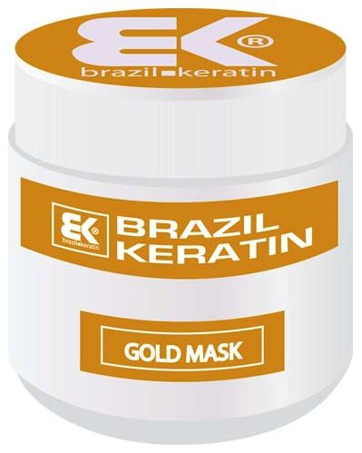 BK Brazil Keratin Anti Frizz Gold Mask MAXI - keratinová regenerační maska s obsahem zlata 500 ml