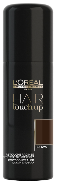 ĽOréal HAIR Touch Up Brown - korektor pro krytí šedin a odrostů hnědý 75 ml