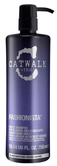 TIGI Catwalk Fashionista Violet Shampoo MAXI - šampon pro blond a melírované vlasy 750 ml