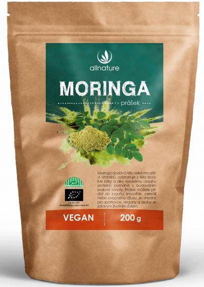 Allnature Moringa prášek RAW 200 g -
