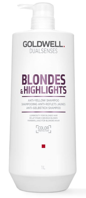 Goldwell Dualsenses Blondes&Highlights Anti-Yellow Shampoo MAXI - šampon pro bond a melírované vlasy 1000 ml