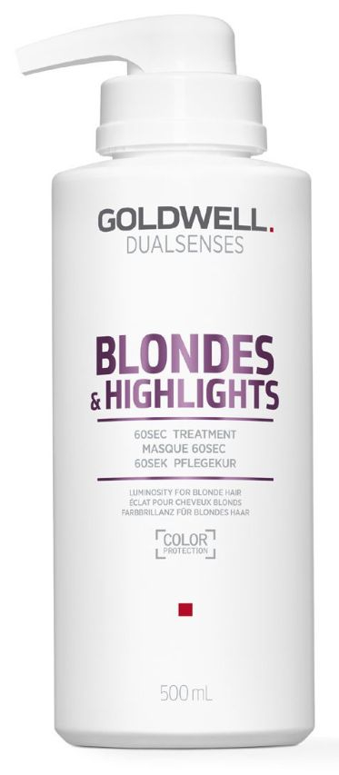 Goldwell Dualsenses Blondes&Highlights 60sec Treatment MAXI - intenzivní maska pro zářivé blond a melírované vlasy 500 ml