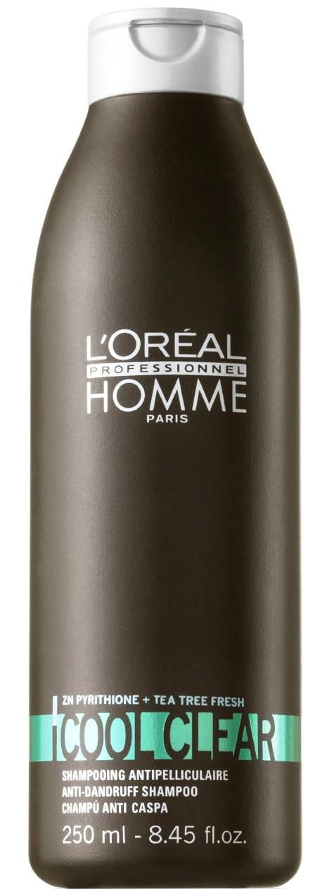 ĽOréal Homme Cool´n´Clear Shampoo - pánský šampon proti lupům 250 ml