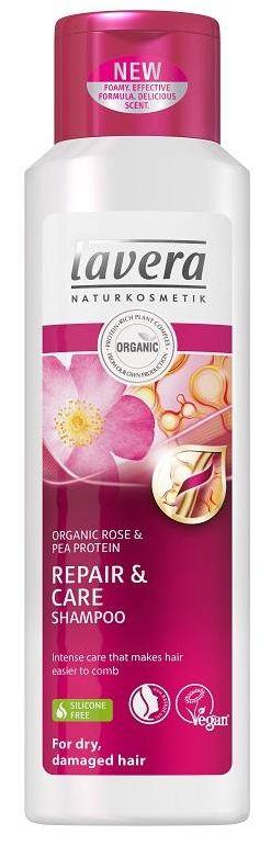 Lavera Hair PRO Bio-Rose Repair & Care Shampoo - šampon pro suché vlasy a poškozené vlasy 250 ml