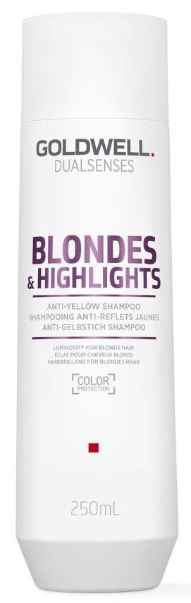 Goldwell Dualsenses Blondes&Highlights Anti-Yellow Shampoo - šampon pro bond a melírované vlasy 250 ml