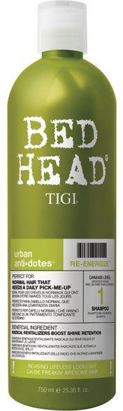 TIGI Bed Head Urban Anti+Dotes Re-Energize Shampoo MAXI - revitalizující a posilující šampon 750 ml