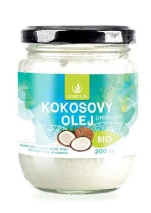 Allnature Kokosový olej panenský BIO 200 ml - 200 ml