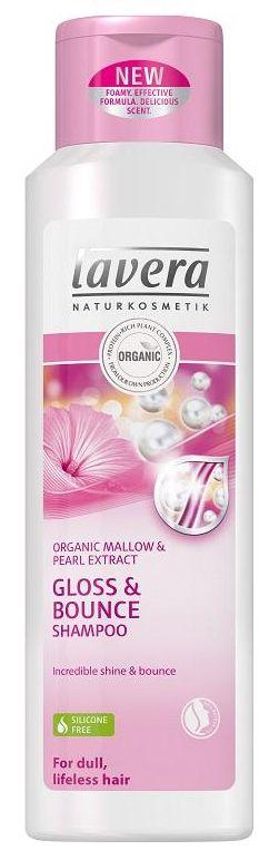 Lavera Hair PRO Gloss&Bounce Shampoo - jemný šampon s bio slézem a perlovým extraktem 250 ml