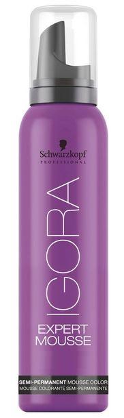 Schwarzkopf Professional Igora Expert Mousse 4-68 - vyživující barvící pěna středně hnědá červená čokoládová 100 ml