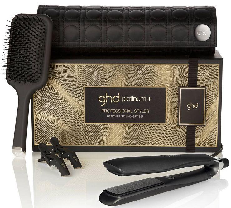 GHD Platinum+ Healthier Styling Gift Set - zvýhodněný set žehličky na vlasy