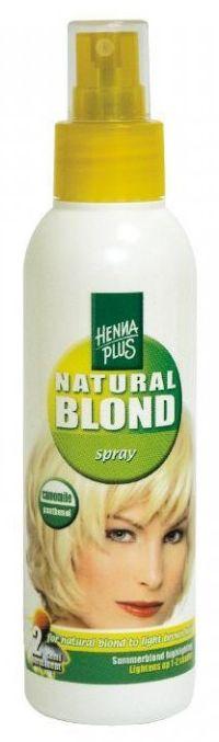 Henna Plus Natural Blond Spray - zesvětlující sprej na vlasy s heřmánkem 150 ml