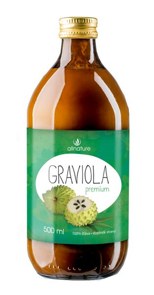 Allnature Graviola Premium BIO 500 ml - šťáva z plodů Gravioly 500 ml