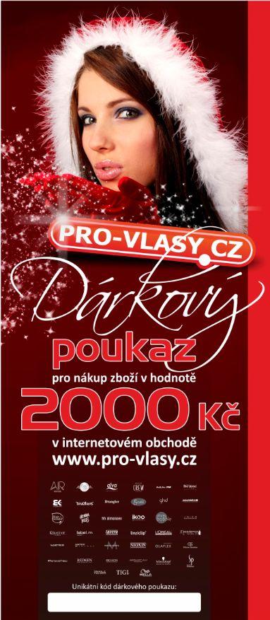 Pro-vlasy.cz Dárkový poukaz 2000 Kč -