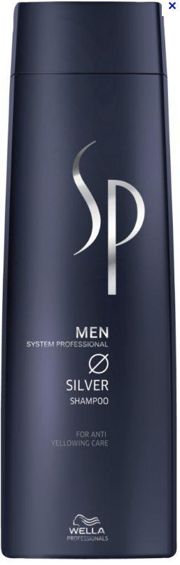 Wella System Professional SP Men Silver Shampoo - pánský šampon pro stříbrné a bílé vlasy 250 ml