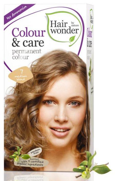 Hair Wonder Permanent Colour Medium Blond 7 - BIO přírodní dlouhotrvající barva Středně blond 100 ml