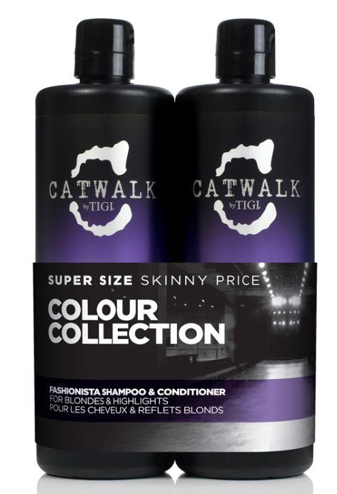 TIGI Catwalk Fashionista Violet Tweens - šampon a kondicionér pro blond a melírované vlasy 1500 ml