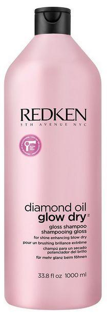 Redken Diamond Oil Glow Dry Gloss Shampoo MAXI - šampon zářivý lesk vlasů 1000 ml