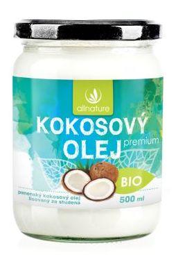 Allnature Kokosový olej panenský BIO 500 ml - 500 ml