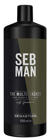 Sebastian Seb Man The Multi-Tasker 3 In 1 MAXI - balzám na vlasy, vousy a tělo 1000 ml