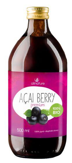 Allnature Acai Berry BIO - BIO pyré Acai Berry 500 ml