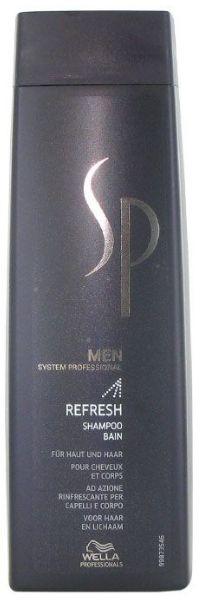 Wella System Professional SP Men Refresh Shampoo - osvěžující šampon na vlasy i tělo 250 ml