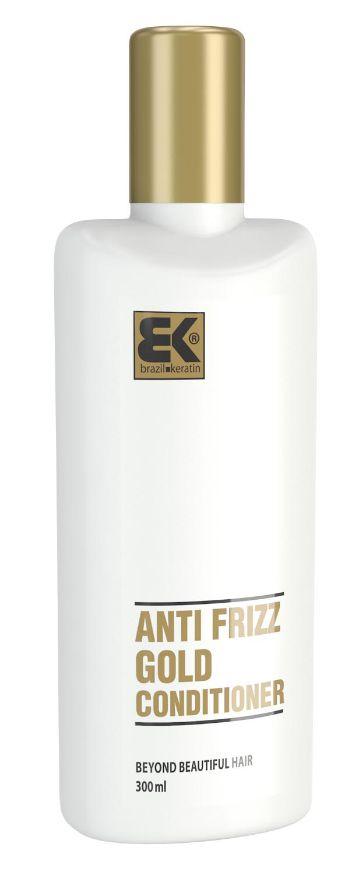 BK Brazil Keratin Anti Frizz Gold Conditioner - keratinový regenerační kondicionér s obsahem zlata 300 ml