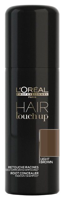 ĽOréal HAIR Touch Up Light Brown - korektor pro krytí šedin a odrostů světle hnědý 75 ml
