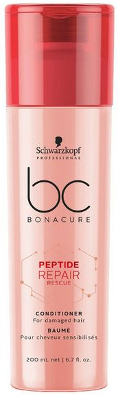 Schwarzkopf BC Bonacure Peptide Repair Rescue Conditioner - kondicionér pro poškozené vlasy 200 ml