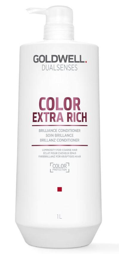 Goldwell Dualsenses Color Extra Rich Brilliance Conditioner MAXI - rozplétací kondicionér pro nepoddajné barvené vlasy 1000 ml