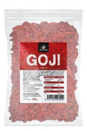 Allnature Goji Kustovnice čínská, sušená 100 g -