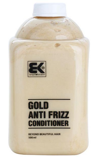 BK Brazil Keratin Anti Frizz Gold Conditioner 500 ml - keratinový regenerační kondicionér s obsahem zlata 500 ml