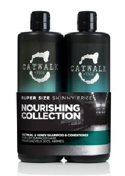 TIGI Catwalk Oatmeal & Honey Tweens - šampon a kondicionér pro suché a poškozené vlasy 1500 ml