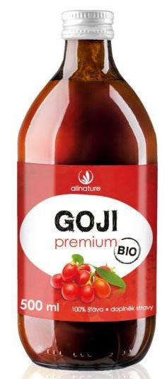 Allnature Goji Premium BIO 500 ml - BIO šťáva z Kustovnice čínské 500 ml