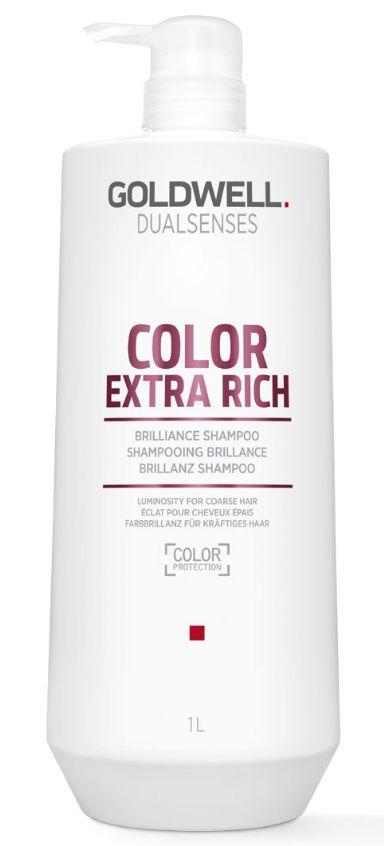 Goldwell Dualsenses Color Extra Rich Brilliance Shampoo MAXI - šampon pro nepoddajné barvené vlasy 1000 ml