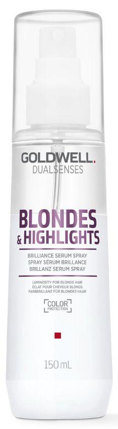 Goldwell Dualsenses Blondes&Highlights Serum Spray - sérum pro lesk barvených a melírovaných vlasů 150 ml