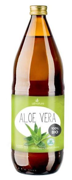 Allnature Aloe Vera BIO 1000 ml - BIO přírodní šťáva z Aloe Vera 1000 ml