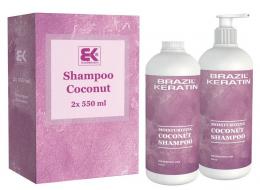 Moisturizing Coconut Shampoo 2 x 550 ml