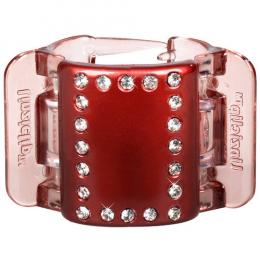 MIDI perleťově vínový s krystalky