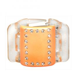 MIDI perleťově broskvový s krystalky